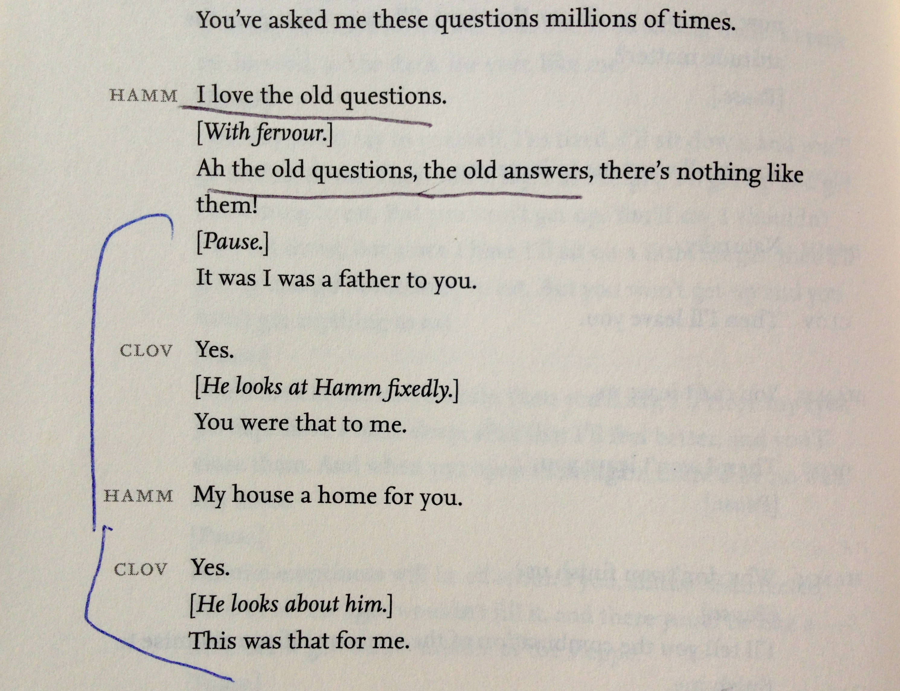 Endgame beckett essay questions