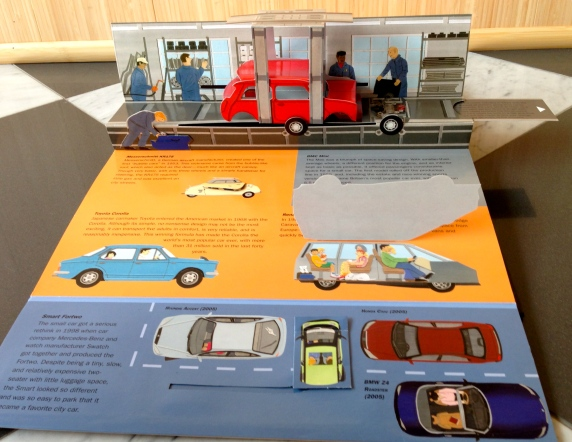 pop-up book cars automobiles books