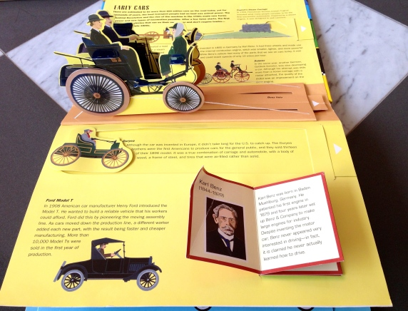 Pop-up books cars automobiles antique classic