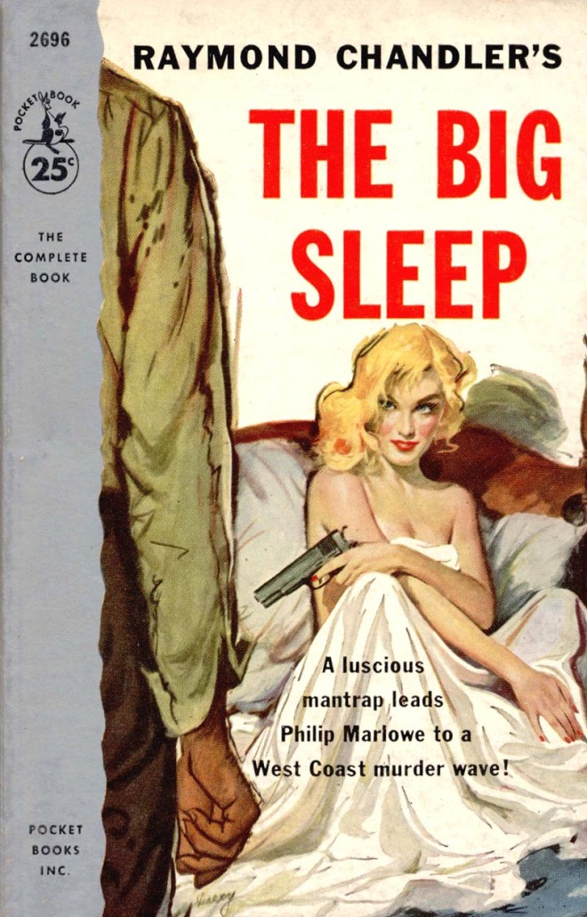 The Big Sleep Cover Raymond Chandler Literature Novels Books California