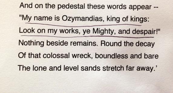 Ozymandias Percy Shelley Literature Poetry
