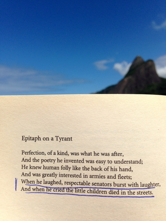 Epitaph on a Tyrant WH Auden Poetry Literature