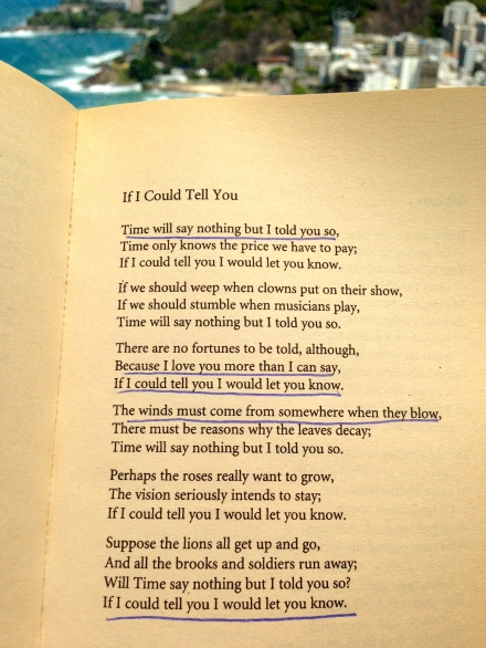 WH Auden If I Could Tell You Poetry Literature