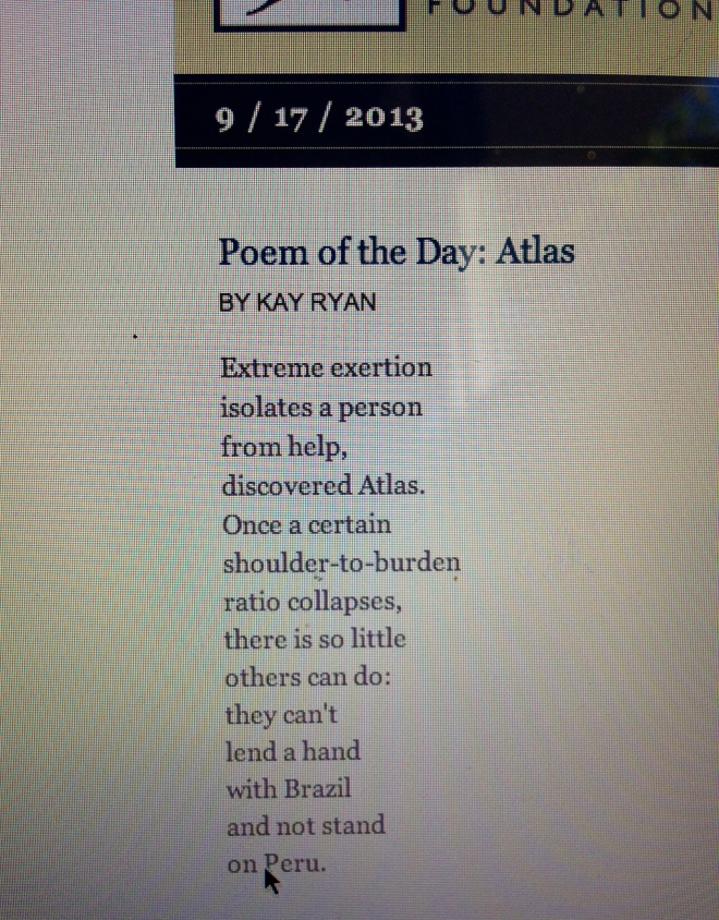 Atlas Kay Ryan Poetry Literature