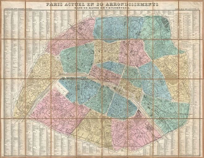 Paris Map History