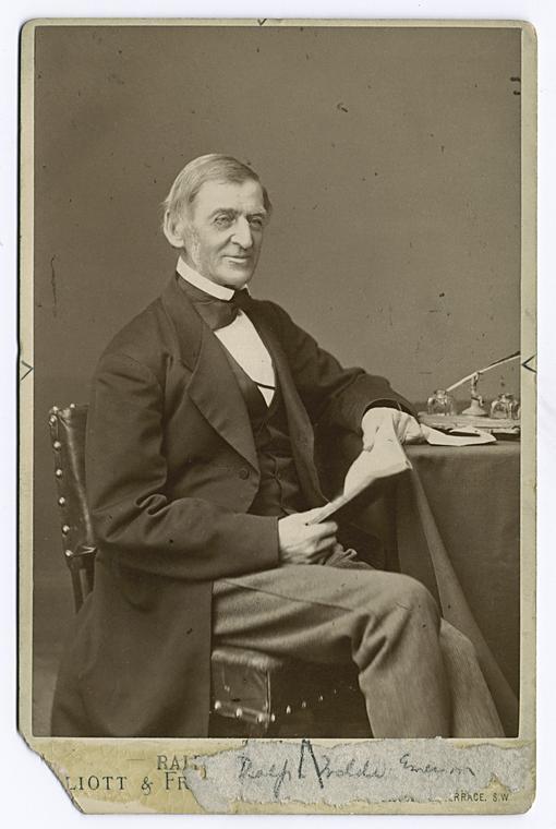 Ralph Waldo Emerson, the happy man.