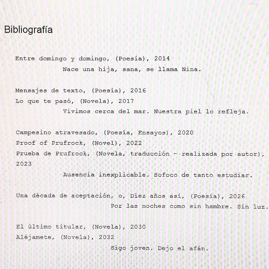 how to say bibliography in spanish
