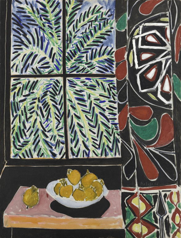 art matisse interior with egyptian curtain