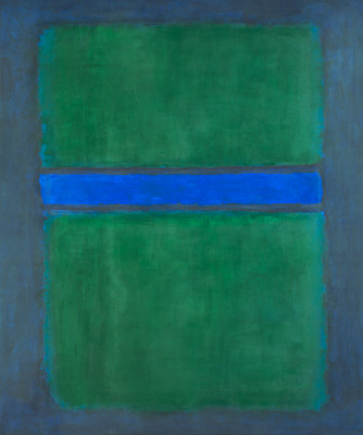 An untitled piece by Mark Rothko on display at The National Gallery of Art